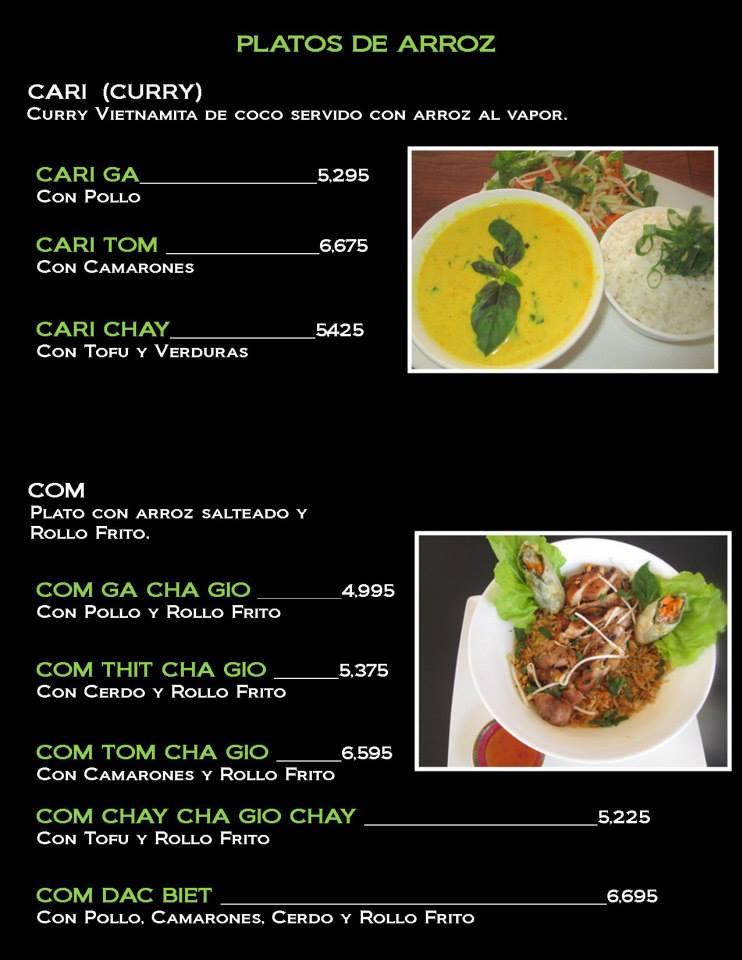 Cafe Vida Dinner Menu