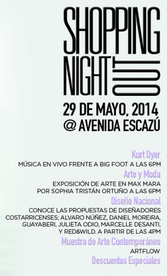 Shopping Night Out in Avenida Escazú