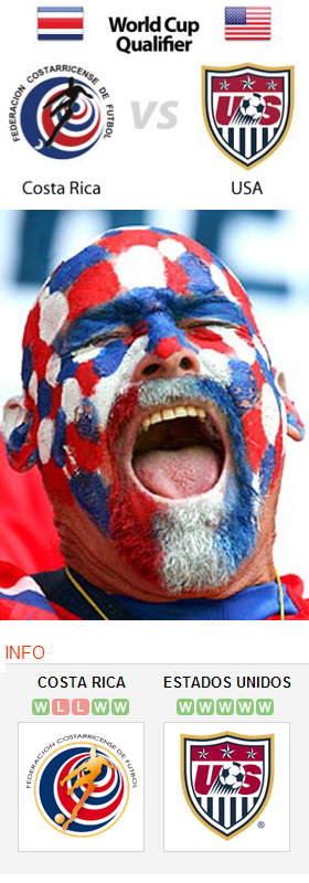 Costa Rica vs USA World Cup 2014 Qualifier