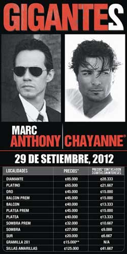 GIGANTE2: Marc Anthony & Chayanne in Concert
