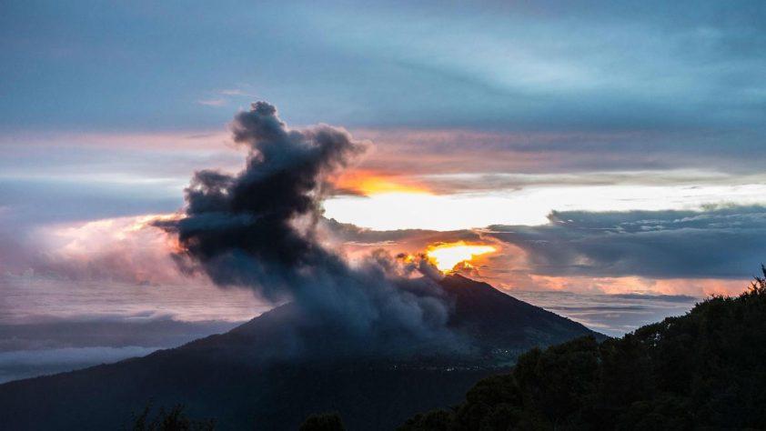 Turrialba Volcano Eruption In San Jose Costa Rica