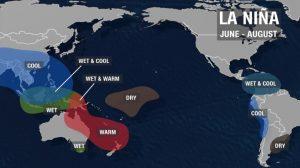 Chart of La Nina
