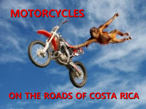 Motorcycles on the roads of Costa Rica 1