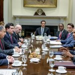 Historical meeting between President Solís and President Barack Obama