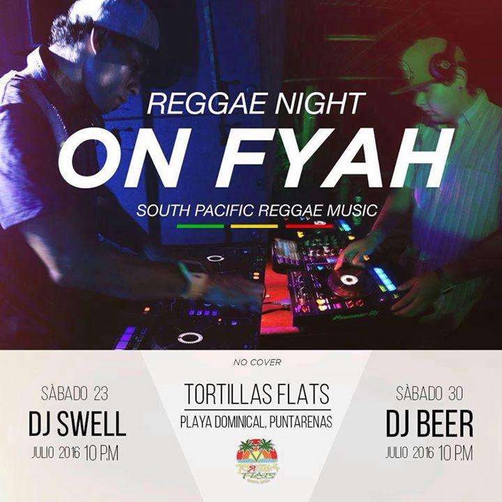 Reggae Night On FYAH - Pura Vida Guide Costa Rica